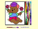 Bear painting - macis játék