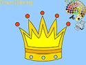 Crown coloring - kifestő játék