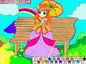 Cute princess coloring - kifestő játék