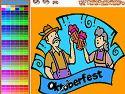 Oktoberfest coloring - coloring game
