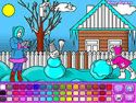 Winter walk coloring - coloring game