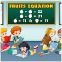 Fruits equations - matematika játék